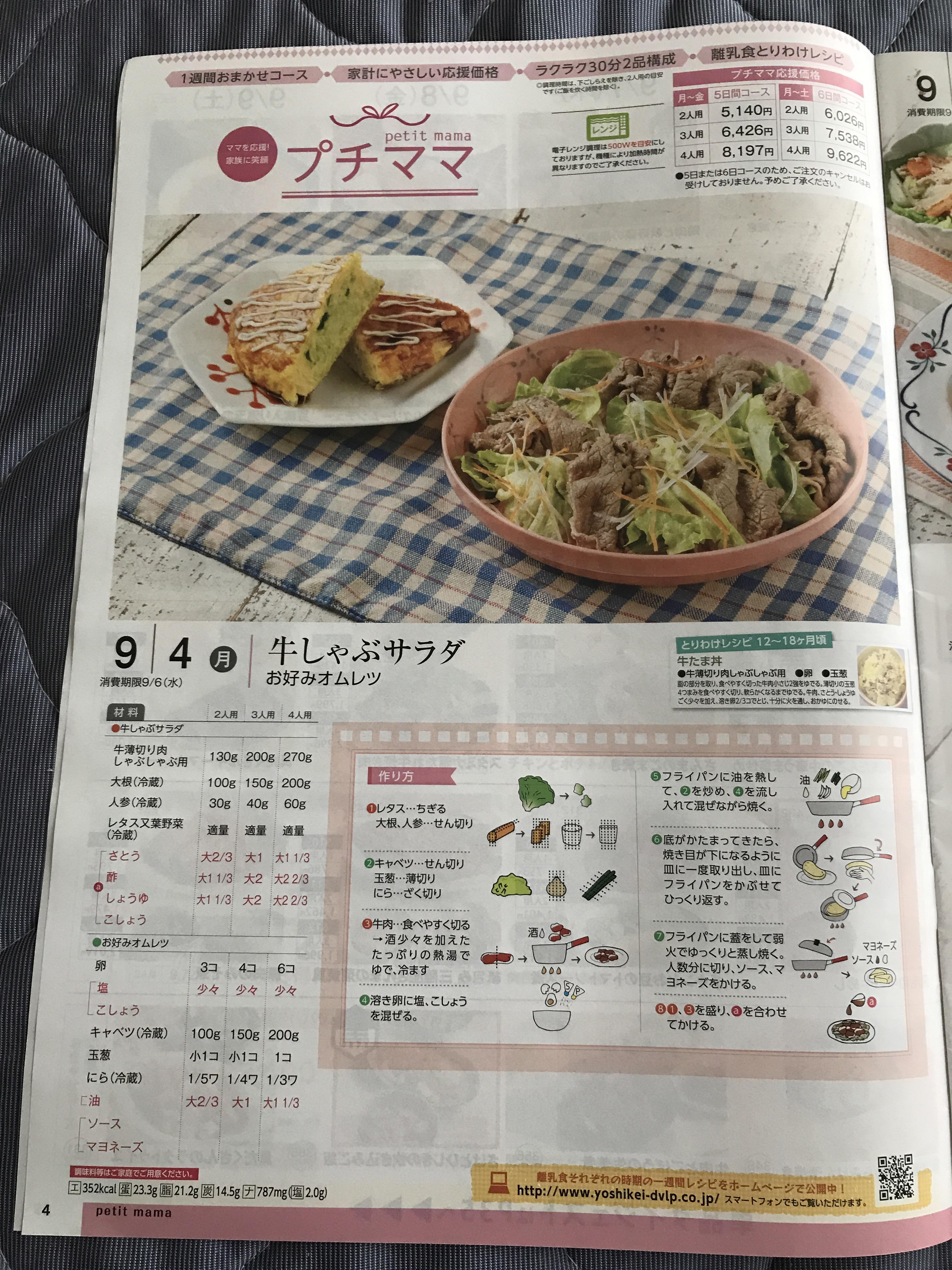 【産後の食事】ヨシケイのお試し5days(プチママ)を注文してみた
